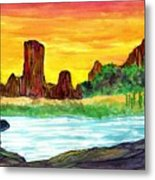 Canyon Of The Mist Metal Print