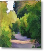 Canyon Path IIi Painterly Metal Print