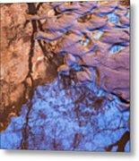 Canyon Reflections Metal Print