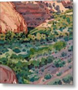 Canyon Shadows Metal Print