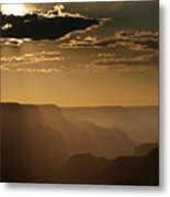 Canyon Strata Metal Print