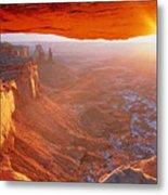 Canyonlands Cavern At Sunset Metal Print