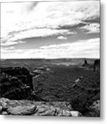 Canyonlands National Park Utah Pan 06 Bw Metal Print