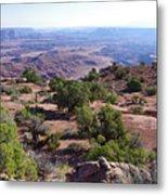 Canyonlands Park Utah Blue To Green Vista Metal Print