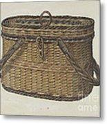 Cap Basket Metal Print