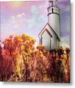 Cape Blanco Lighthouse In Oregon Metal Print