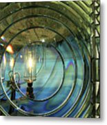 Cape Blanco Lighthouse Lens Metal Print