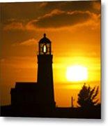 Cape Blanco Lighthouse Sunset 2 Metal Print
