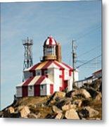 Cape Bonavista Lighthouse, Newfoundland, Canada Old And New Lamp Metal Print