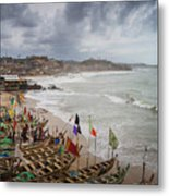 Cape Coast Fishing Village Metal Print
