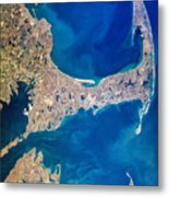Cape Cod And Islands Spring 1997 View From Satellite Metal Print