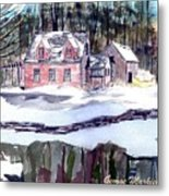 Cape Cod House Metal Print