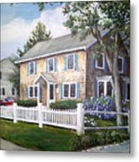 Cape Cod House Painting Metal Print