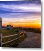 Cape Cod Light Metal Print by Mark Papke
