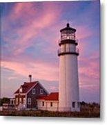 Cape Cod Light Metal Print