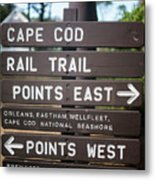Cape Cod Rail Trail Sign Eastham Metal Print