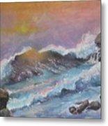 Cape Cod Waves Metal Print by Lyn Vic