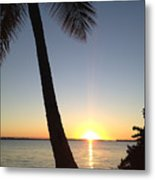 Cape Coral Winter Sunset  Metal Print