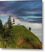 Cape Disappointment After Sunset Metal Print