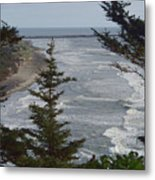 Cape Disappointment Beach Metal Print