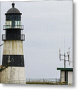 Cape Disappointment Lighthouse Closeup Metal Print