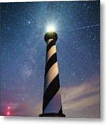 Cape Hatteras Light Under The Stars Metal Print