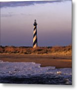Cape Hatteras Lighthouse At Sunrise - Fs000606 Metal Print