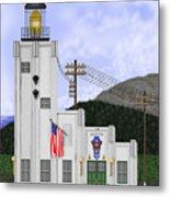 Cape Hinchinbrook Lighthouse in Alaska Metal Print