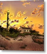 Cape Lookout Lighthouse 2 Metal Print