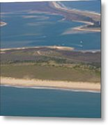 Cape Lookout Lighthouse Distance Metal Print