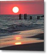 Cape May Nj Sunset, Philadelphia Beach Metal Print