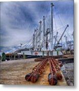 Cape May Scallop Fishing Boat Metal Print
