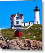 Cape Neddick Lighthouse Metal Print