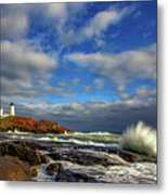 Cape Neddick Lighthouse Metal Print by Rick Berk