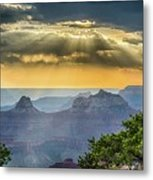 Cape Royal Crepuscular Rays Metal Print