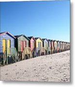 Cape Town Beachhuts Metal Print