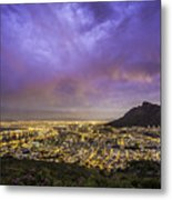 Cape Town From Signal Hill At Sunset Metal Print