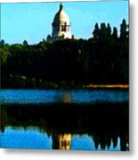 Capital Lake Metal Print