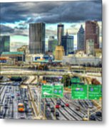 Capital Of The South Atlanta Skyline Cityscape Art Metal Print