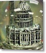 Capital Snow Globe  Metal Print