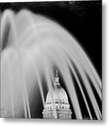 Capital Stained Metal Print