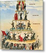 Capitalist Pyramid, 1911 - To License For Professional Use Visit Granger.com Metal Print