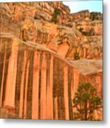 Capitol Gorge Desert Varnish Metal Print