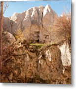Cappadocia Dovecotes Metal Print