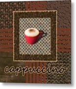 Cappuccino - Coffee Art - Red Metal Print