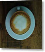 Cappuccino In A Cup Metal Print
