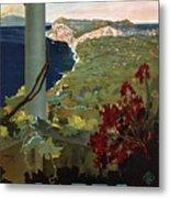 Capri, Italia - Bay Of Naples, Italy - Retro Travel Poster - Vintage Poster Metal Print