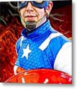 Captain America Super Hero Metal Print