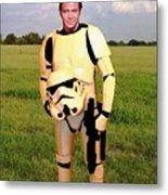 Captain James T Kirk Stormtrooper Metal Print