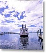 Captain Jp's Paddle Boat Metal Print